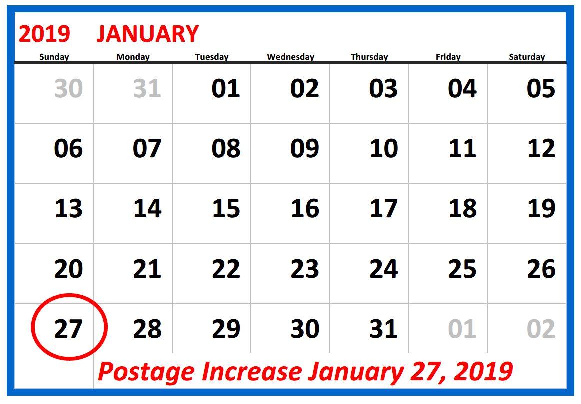 Jan 2019 Calendar2